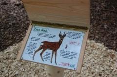 Tiertafel für Waldlehrpfad