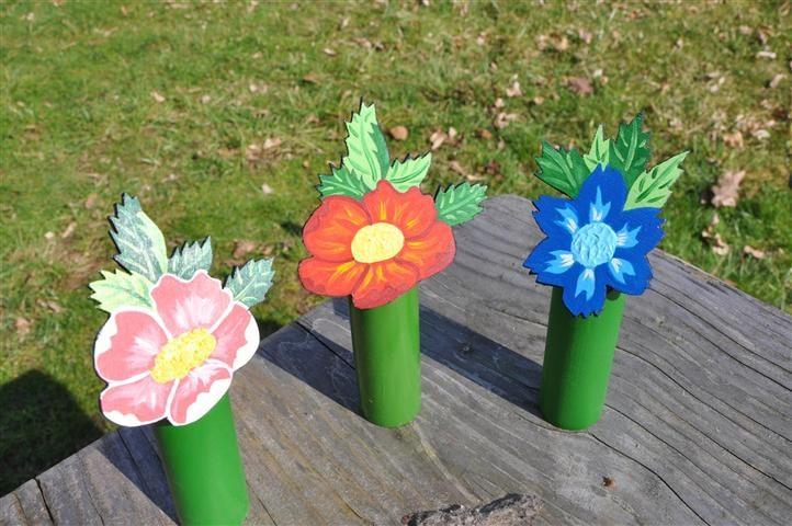 Deko Tischdekoration Aus Holz Motiv Blumen